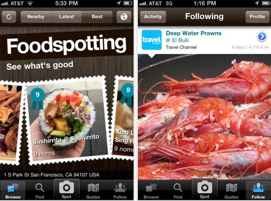 صورة تطبيق I Love FOOD – FoodSpotting