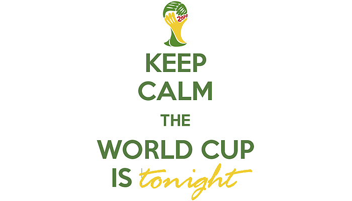صورة KEEP CALM THE WORLD CUP IS TONIGHT